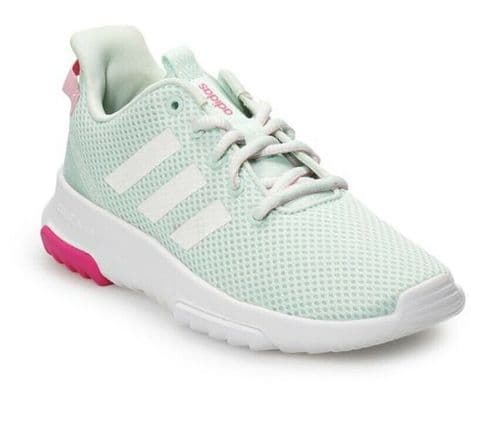 adidas CF Cloud Foam Racer Girls Kids Running Trainers UK10K UK10.5K UK11K UK2.5